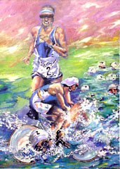 <I>' Triathlon II '  <BR>  Angelique van den Born</I>