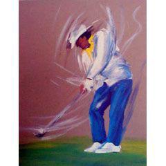 <I>' Golf '<BR> ingelijste poster - Anneke Dekkers</I>