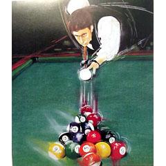 <I>' Snooker '<BR>ingelijste poster - Anneke Dekkers</I>