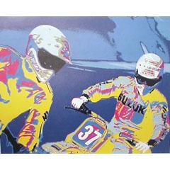 <I>' Motorcross 37 '<BR>ingelijste poster - Cees van Gastel</I>