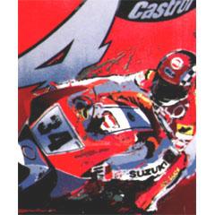 <I>' Motorrace 34 '<BR>ingelijste poster - Cees van Gastel</I>