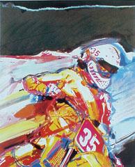 <I>' Motorcross 35 '<BR>ingelijste poster - Cees van Gastel</I>