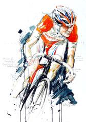 <I>' Marianne Vos '  <BR>Wielrenster van het jaar 2009 <BR>Horst Brozy </I>