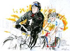 <I>' Joop Zijlaart / Leon van Bon '  <BR>6 Daagse Brabant-Tilburg 2009<BR> Horst Brozy </I>