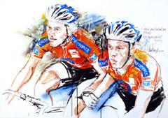 <I>' Nick Stöpler / Michael Vingerling '  <BR> 6 Daagse Brabant-Tilburg 2009<BR> Horst Brozy </I>