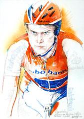 <I>' Lars Boom '  <BR>Tijdrit Vuelta 2009<BR> Horst Brozy </I>