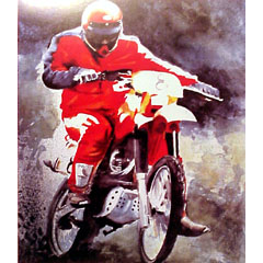 <I>' Motor - Mac '<BR>ingelijste poster - Huub Lepelaar</I>
