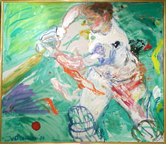 <I>' Cricket ' 90 '<BR>Jan van Diemen</I>