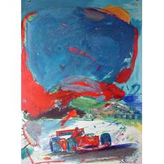 <I>' Formule I Rood '  <BR>Jan van Diemen </I>