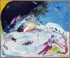 <I>' Skiër 7 ' <BR> Jan van Diemen </I>