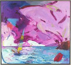 <I>' Catamaran-Blue'<BR>Jan van Diemen</I>
