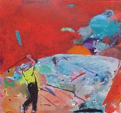 <I>' Golf Rood 2008 ' <BR> Jan van Diemen</I>