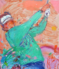 <I>' Golf Rose Groen ' 89  ' <BR> Jan van Diemen</I>