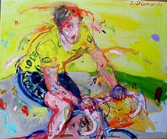 <I>' Gele Wielrenner ' 89  '<BR> Jan van Diemen</I>