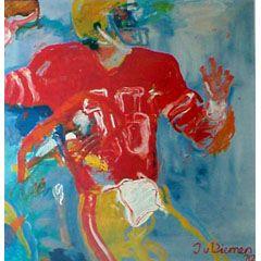 <I>' American Football 15 '<BR> ingelijste poster - Jan van Diemen</I>