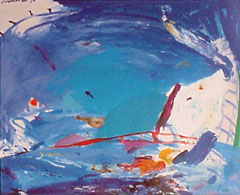 <I>'  Zwemmen ' <BR>ingelijste poster - Jan van Diemen</I>