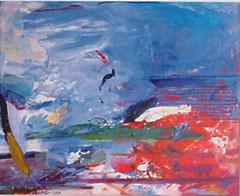 <I>'  Roeien 4 ' <BR>ingelijste poster - Jan van Diemen</I>