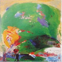 <I>'  Golf ' <BR>ingelijste poster - Jan van Diemen</I>