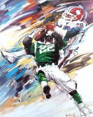 <I>' American Football  22/28 ' <BR> ingelijste poster - Jan Hofland</I>