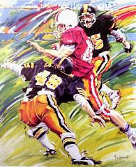 <I>' American Football 48 '<BR>ingelijste poster - Jan Hofland</I>