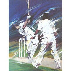 <I>' Cricket '<BR> ingelijste poster - Jan Hofland</I>