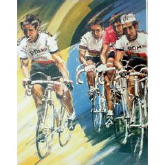 <I>' Cycling PDM '<BR>ingelijste poster - Jan Hofland</I>