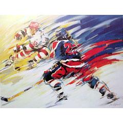 <I>' Icehockey 12 '<BR>ingelijste poster - Jan Hofland</I>