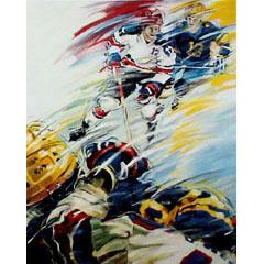<I>' Icehockey 12/13 '<BR>ingelijste poster - Jan Hofland</I>