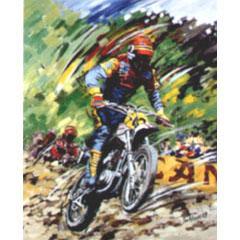 <I>' Motorcross CAN '<BR>ingelijste poster - Jan Hofland</I>