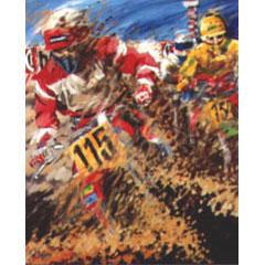 <I>' Motorcross 115 '<BR>ingelijste poster - Jan Hofland</I>