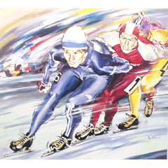 <I>' Marathon 614 '<BR>ingelijste poster - Jan Hofland</I>