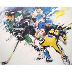 <I>' Icehockey  N '<BR>ingelijste poster - Jan Hofland</I>