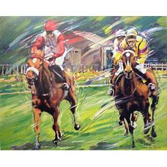 <I>' The Races '<BR>ingelijste poster - Jan Hofland</I>
