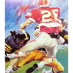 <I>' American Football 28 '<BR>ingelijste poster - Jan Hofland</I>