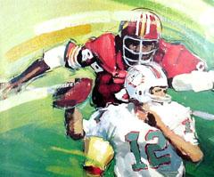<I>' American Football - 12 '<BR>ingelijste poster - Jan Hofland</I>