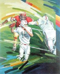 <I>' American Football 12 '<BR> ingelijste poster - Jan Hofland</I>