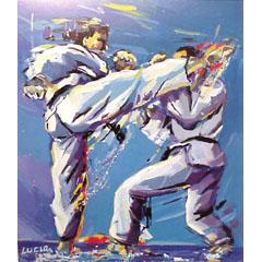 <I>' Karate '<BR> ingelijste poster - Lucia Hoogervorst</I>
