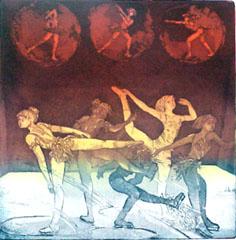<I>' Olympics V - Schaatsen ' <BR> Michael Jepkes</I>