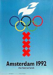 <I>' OS Amsterdam 1992 '<BR>Originele poster</I>