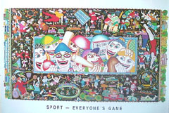 <I>' Sport Everyones Game ! '<BR>Poster over de Australische sporten</I><B> * NIEUW</B>