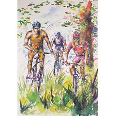 <I>' Rad sport ' <BR>ingelijste poster - Petra Scholl</I>