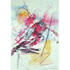 <I>' Slalom '<BR>ingelijste poster - Petra Scholl</I>