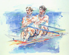 <I>' Rowing ' - Wim Hoogstraten</I>
