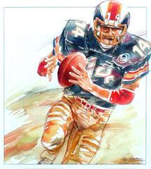 <I>' American Football 14 '<BR> ingelijste poster - Wim Hoogstraten</I>
