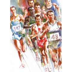 <I>' Marathon '<BR>ingelijste poster - Wim Hoogstraten</I>