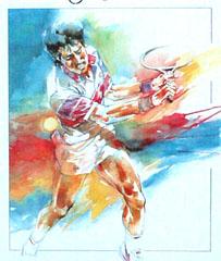 <I>' Backhand '<BR>ingelijste poster - Wim Hoogstraten</I>