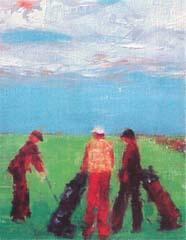 <I>' Golf I '<BR>ingelijste poster - Wil Willemsen</I>