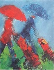 <I>' Golf II '<BR>ingelijste poster - Wil Willemsen</I>