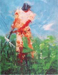 <I>' Golf III '<BR>ingelijste poster - Wil Willemsen</I>