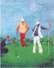 <I>' Golf IV '<BR>ingelijste poster - Wil Willemsen</I>